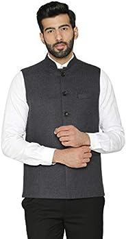 سترة رجالي من الصوف Tweed للاحتفالي وكاجوال Nehru من WNIE: ألوان متعددة