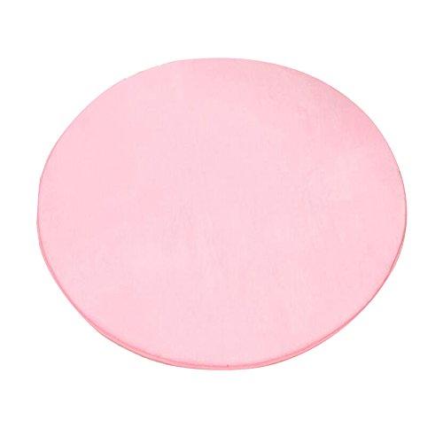 Runde Matten für Kinder Spielhaus Super Weich Home Teppich Bodenmatte Kreisförmig Teppichauflage Kinderzelt Teppiche Kinder Spielhaus-Pad Rosa Coral Fleece 100 cm X 100cm