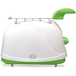 Tostapane elettrico 500w KT1200 DCG due pinze per toast timer e vano briciole. MEDIA WAVE store ® (Verde)