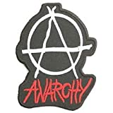 "ANARCHY Punk Rock Logo Embroidered Iron On PatchApprox: 3.5""/9.4cm x Approx: 2.6""/6.8cm By SSLINK"