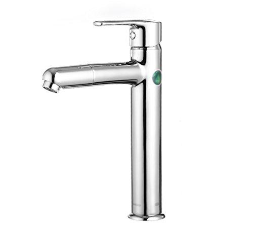 Hot And Cold scène Bassin de robinet Lavabo bassin eau du robinet peut être pivoté Tap Mouth Placage