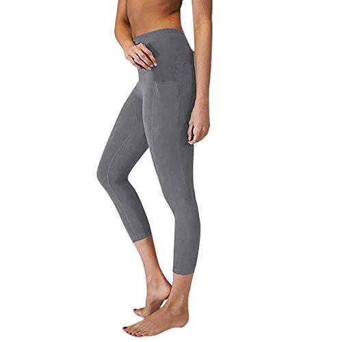 Berimaterry 3/4 Mujer Pantalones Largos Deportivos