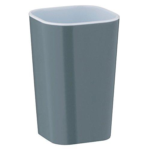 kela 22921 Gobelet Nora en Plastique Gris/Blanc, 7,5 x 7,5 x 12 cm