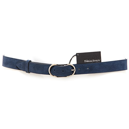 8533R cintura uomo FABRIZIO MANCINI suede blu belt men without box [95 CM]