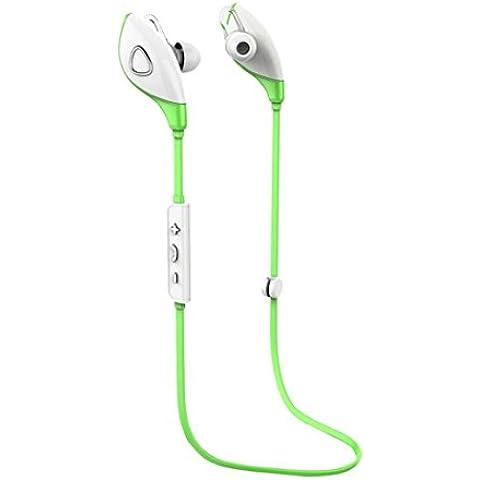 Verde,Koly Bluetooth estéreo inalámbrico Deportes Auriculares manos libres para el teléfono