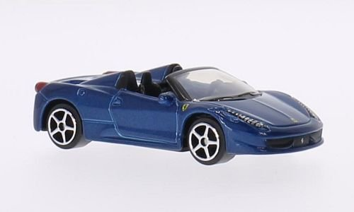 Ferrari 458 Spider, metallic-blau, 0, Modellauto, Fertigmodell, Bburago 1:64
