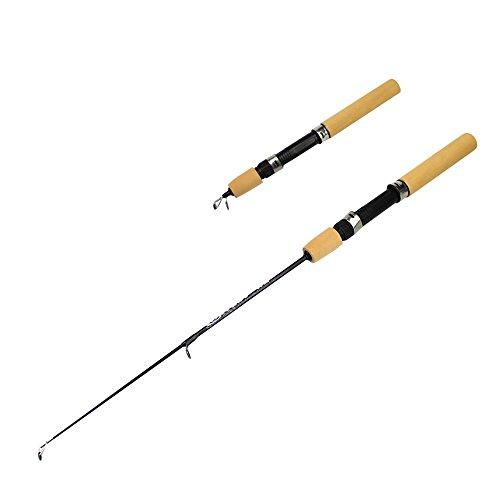 Beautyrain 1M Aluminium Mini Retractable Pocket Pen Reise Angelrute Pole für Winter & Eisfischen