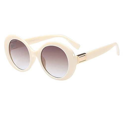 jgashf Sonnenbrille Damen Rayban,Mode Vintage Zeitlos GroßEr Rahmen Damen Polarisiert 100% Uv-Schutz Sonnenbrille Mit Farbverlauf Linse Augen Schutzbrille (F)