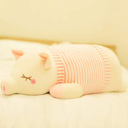 Piggy Plush Toy Doll Cute Bed With You Sleeping Pillow Doll Doll Doll Girl Hug Bear Super Cute Striped Pig Pink 50Cm