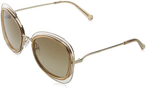 Chloé' CE123S 743 56, Gafas de sol para Mujer, Gold/Transparent Light Br