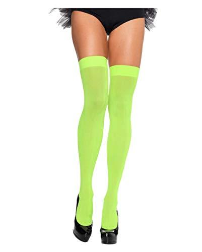 Tasten Erwachsene Schuhe (Horror-Shop Neon Grüne Overknees für 80er Jahre & Bad Taste Mottopartys)