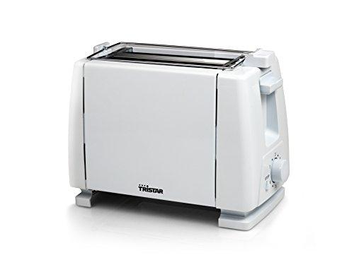 Tristar BR-1009 Toaster, 2 Toastkammern, 6 Bräunungsstufen, mit Stoptaste, Weiß