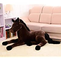 CGDZ Plush toy simulation animal 70x40cm horse plush toy prone horse doll for birthday gift