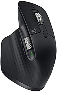 Logitech MX Master 3 Advanced Wireless Mouse, Ultrafast Scrolling, Use on Any Surface, Ergonomic, 4000 DPI, Cu