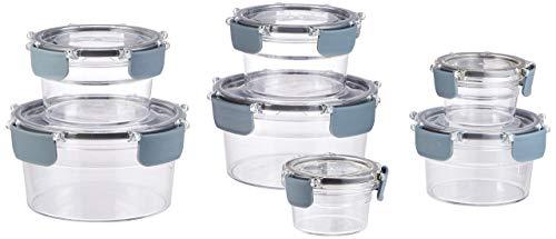 Amazonbasics - contenitore per alimenti con chiusura, in tritan, 14 pezzi