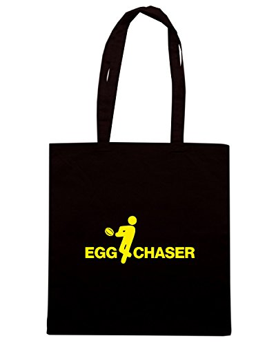 T-Shirtshock - Borsa Shopping WC0268 CLEARANCE - RUGBY T-SHIRT - EGG CHASER Nero