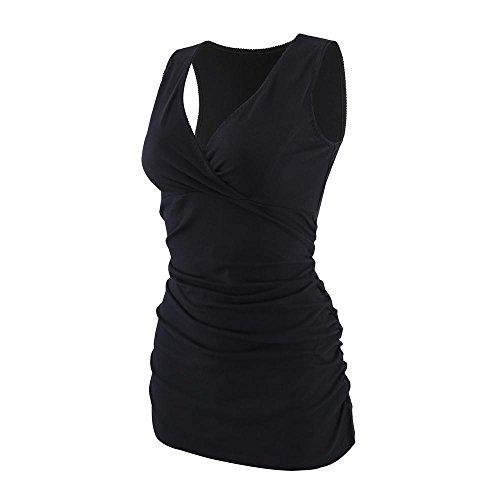 ZUMIY Still-Shirt/Umstandstop, Schwangeres Stillen Nursing Schwangerschaft Top Umstandsmode Unterwäsche V-neck Tank Kleid