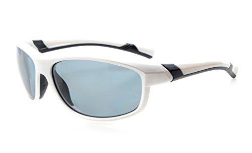 Eyekepper Polycarbonat-polarisierte Sport-Sonnenbrille für Jugendliche Baseball Laufen Angeln Fahren Golf Softball Wandern TR90 Unbreakable White Frame Grey Lens