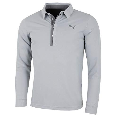 Puma Golf Herren Tailored Langarm-Polo Quarry XL -