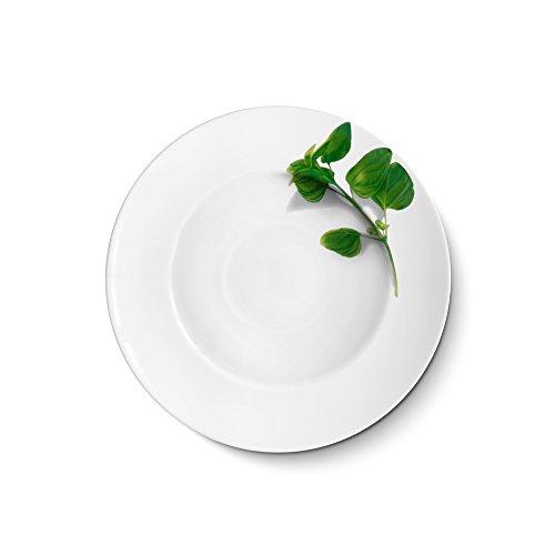 Creatable - L'Europe Herbes - Basilic 27 cm Assiettes à pâtes en porcelaine