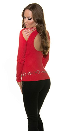In-Stylefashion - Sweat-shirt - Femme rouge rouge clair taille unique rouge clair