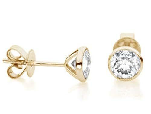 Diamant Ohrstecker Solitair 0,05 ct. TW-si (Gelbgold 750) Diamantohrringe