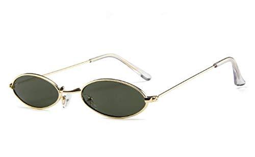 (Volon Brille Retro Sonnenbrille Für Herren und Damen Oval Brillen Modenschau Aktivitäten im Freien Freizeit Wanderung Reise Weiß Gelb Rot Grau Dunkelgrün)