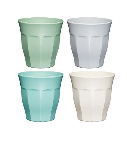 Kitchen Craft Colourworks'Unzerbrechliche' Trinkbehälter, 280 ml, Mehrfarbig, 8,5 x 8,5 x 9 cm