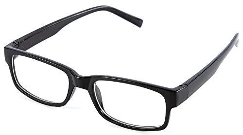 Nerd Clear Klarglas Slim Brille | schmale - Nerd Kostüm Kopfbedeckung