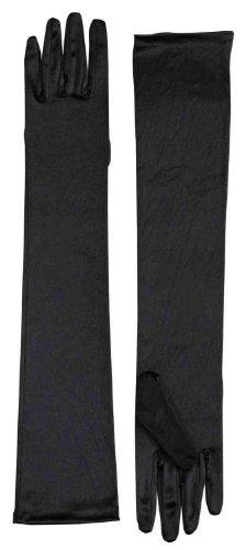 , schwarz, lang, Kostüm für Erwachsene Kostüm-Handschuhe aus Satin