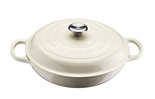 LE CREUSET 21180304814430 Gourmet-PROFITOPF SIG 30 cm Creme, Gusseisen