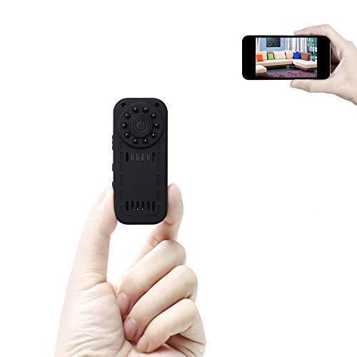Mini Kamera UYIKOO 1080P HD Bewegliche Kleine Kamera Wlan Überwachungskamera Drahtlose IP-Hausüberwachungskamera für iPhone / Androide Fernansicht mit Nachtsicht und Bewegungsdetektion
