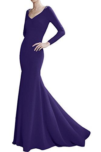 Victory Bridal Royal Blau 2016 Neu Edel Damen Abendkleider Partykleider Abiballkleider Meerjungfrau Festlich Lila