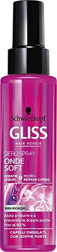 Schwarzkopf Gliss Trattamento Onde Soft per capelli ondulati con doppie punte 100 ml