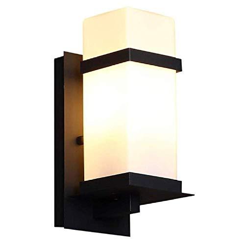 LED moderne Außenwand Laterne Lampe Gusseisen Gehäuse mit Glasschirmwasserdichte Außenwand Lampe Licht für Veranda Hof Garage Wandleuchte