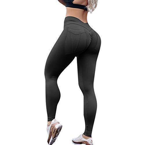 f08fddcf194c Hibote Sexy Butt Lift Pantaloni Donna Hip Push Up Casual Solid Alta Vita  Leggings Allenamento Fitness