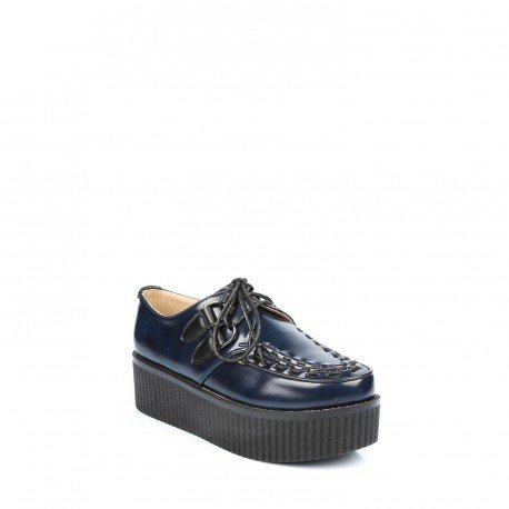 Pomme passion - Baskets style creepers Edina - Femme Bleu