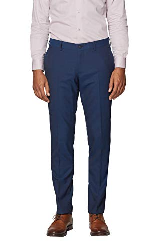 ESPRIT Collection Herren 997EO2B802 Anzughose, Blau (Navy 400), 46 -