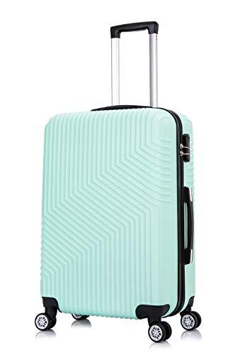 Frentree Hartschalen-Koffer 02 | Trolley Reisekoffer Handgepäck mit 4 Rollen M-L-XL-Set zum Auswahl, Koffer Standard Farbe:Türkis(L. Green), Koffer Standard Größe:XL(77CM)