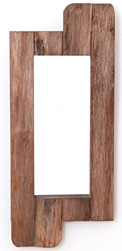 Vintiquewise QI003368.S Wandspiegel, rustikal, mit Holzrahmen, ca. 71 cm