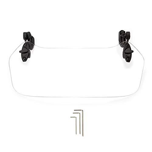 Moto Regolabile Parabrezza, Moto Clip-On Parabrezza, Impermeabile Regolabile Deflettore Universale - Trasparente, 28x11cm