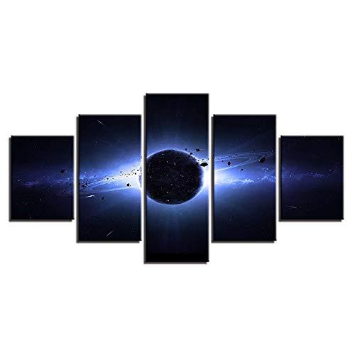 (Moderne Modulare Leinwand Bilder 5 Stücke Planet Erde Landschaft Malerei Wandkunst Dekor Wohnzimmer Poster Abstrakte HD Drucke)
