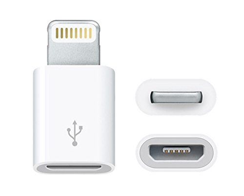 TecnoStore® ADATTATORE DA MICRO USB A 8 PIN LIGHTNING PER IPHONE 6 6+ 5 5S 5G IPAD IPOD TOUCH cavo dati COMPATIBILE IOS 8 7 cellulare smarthphone