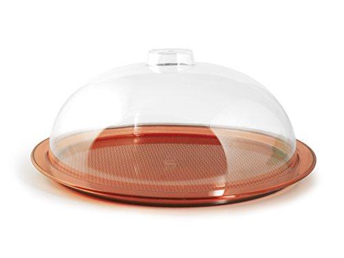 Home Cloche avec couvercle, 28 cm, plastique, orange