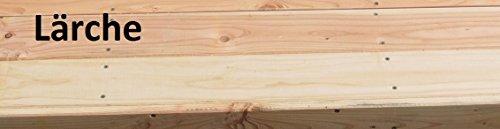 8.8.3238: produziert in Deutschland – grosse Baumbank sechseckig aus Lärchenholz vollmassiv – Baumbank mit Innendurchmesser 119cm - 5
