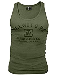 Tollwut Streetwear Tanktop 'SLAM' oliv
