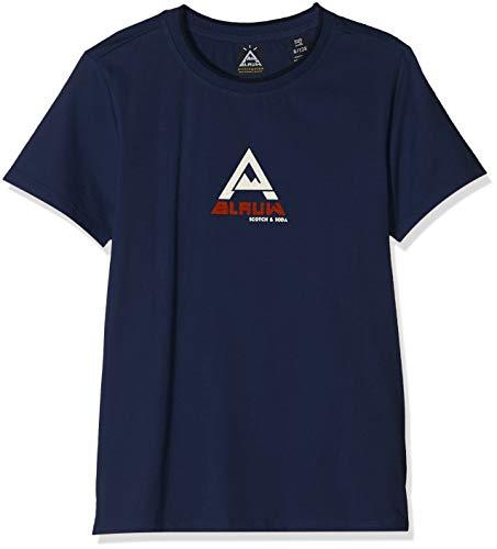 Scotch & Soda Shrunk Jungen Short Sleeve Tee with AMS Blauw Artwork T-Shirt, Blau (Blue Summit 2674), 176 (Herstellergröße: 16) -