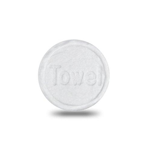 Pentaton - Paquete de 100 toallitas refrescantes en forma de tabletas, toallitas comprimidas, paño seco que ahorra espacio, reutilizable, toallitas húmedas