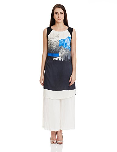 W for Woman Straight Kurta (15FE15053-56311_BLUE_8)  available at amazon for Rs.524