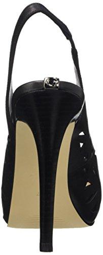 Guess Hyee Lea05, Chaussures à Talons Compensés Femme Noir - noir